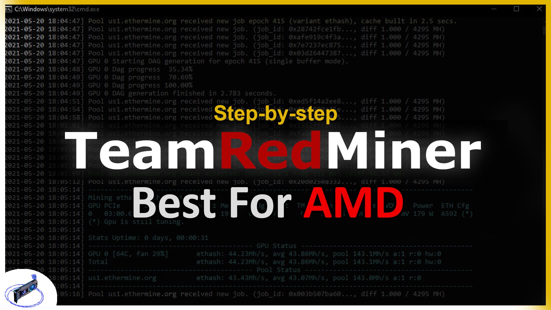 How To Use TeamRedMiner - Step-by-step Tutorial